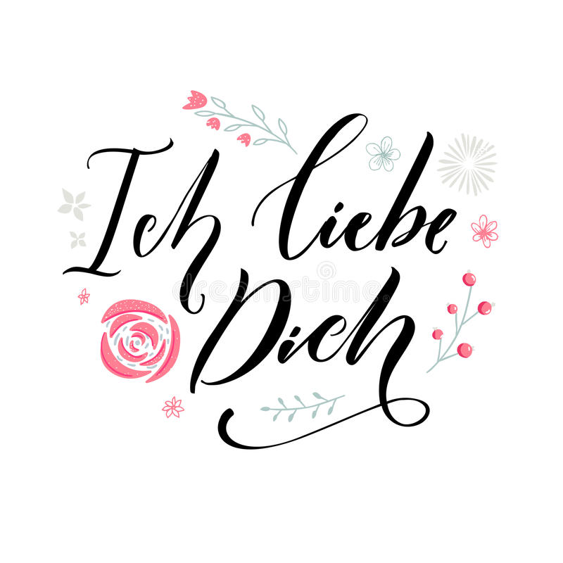 I Love You In German Language Love Quote Typography