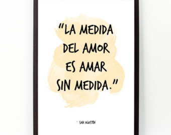 San Augustin Spanish Love Quote