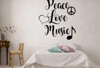 Peace Love Music Wall Decal Peace And Love Vinyl Sticker Music Wall Art