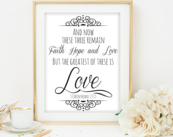 Bible Verse Art Wedding Bible Verse  Wedding Scripture Printable Scripture Bible
