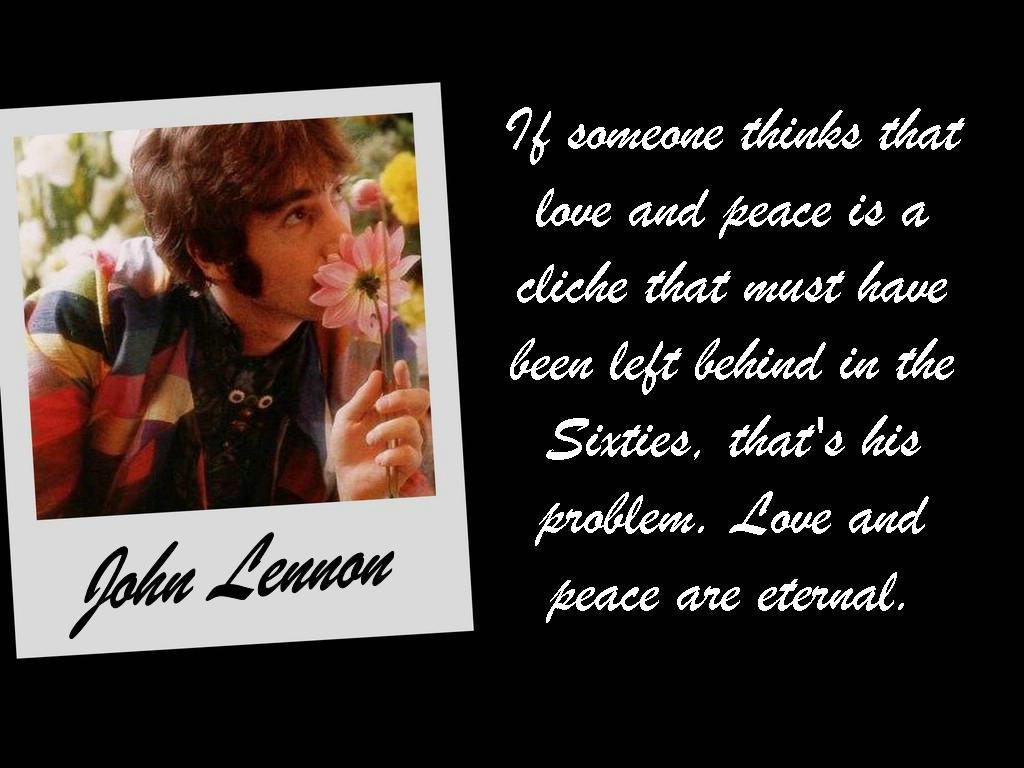 John Lennon Love And Peace By Piratehippy