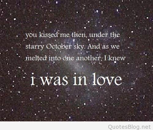 Kiss Love October Quote Sky Favim Com