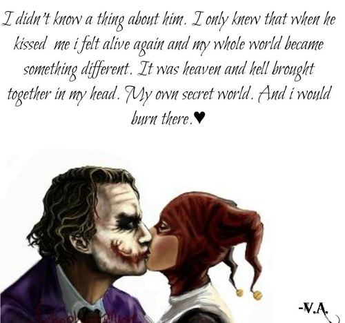 Joker Kiss And Quotes Image