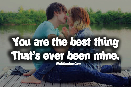 Love Couple And Quote Image