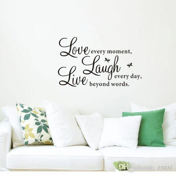 Live Laugh Love Quotes Wall Sticker Decal Decals Wallpaper Beauty Wall Stickers Home Decor Mural Home Decor For Family Zy Owl Wall Stickers Lable