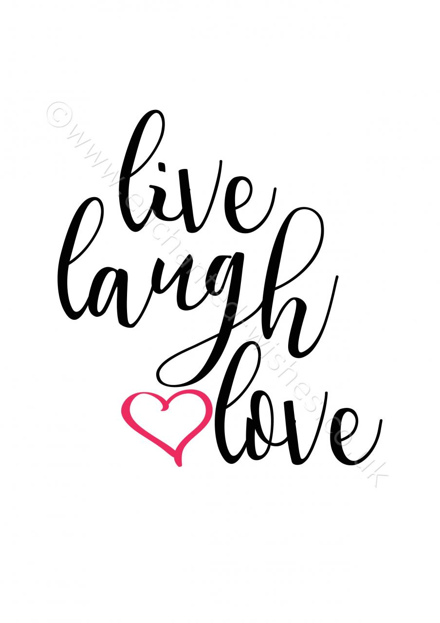 Live Laugh Love Quote Typography Print