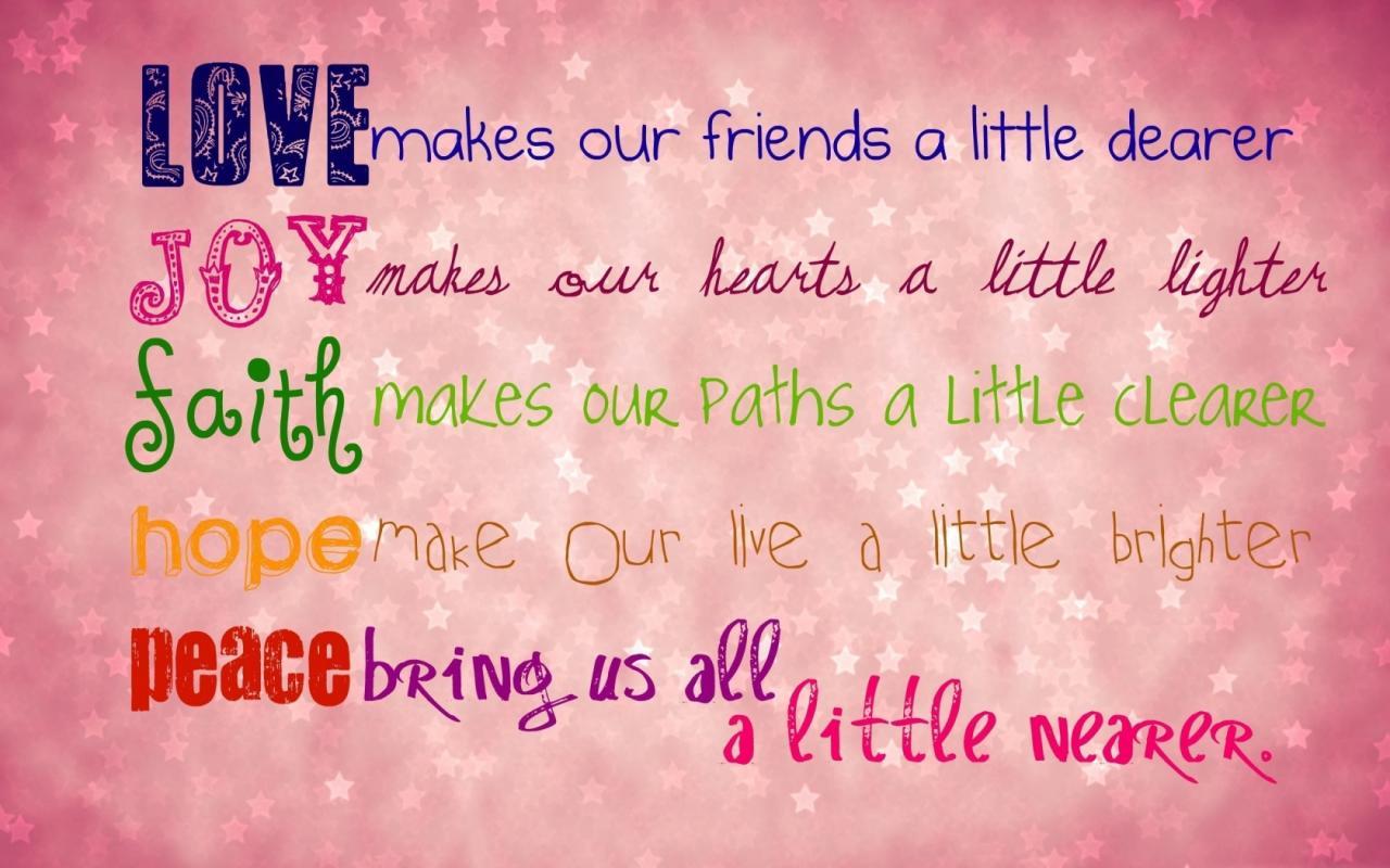 Love Joy Faith Peace Quotes