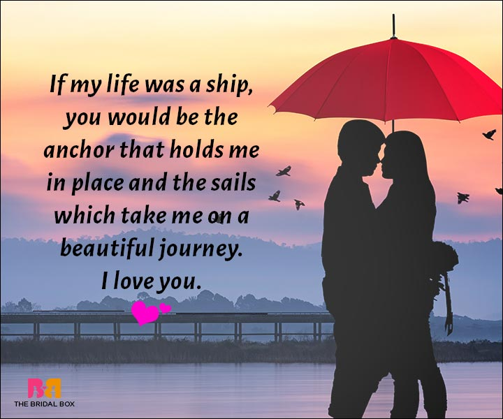 Love Messages For Husband If My Life Was A Ship