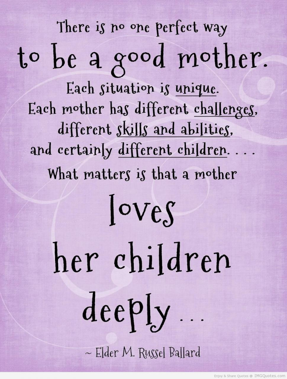 Loves Her Children Deeply Faith Quote Imgquotes