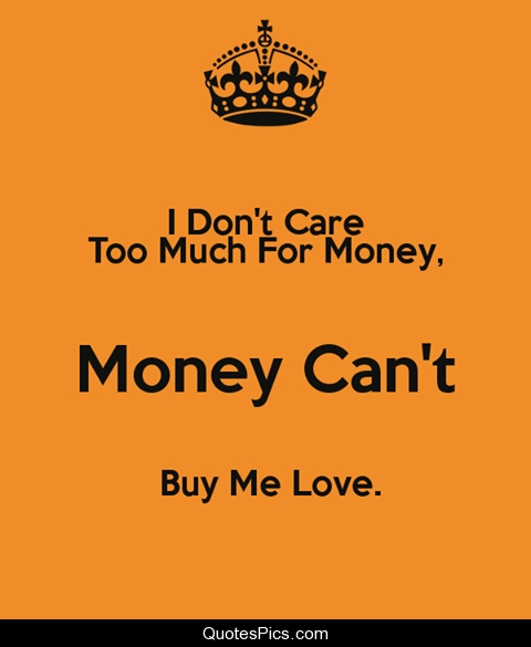 Money Cant Buy Me Love The Beatles