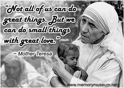 Mother Teresa Quotations Memorymuseum