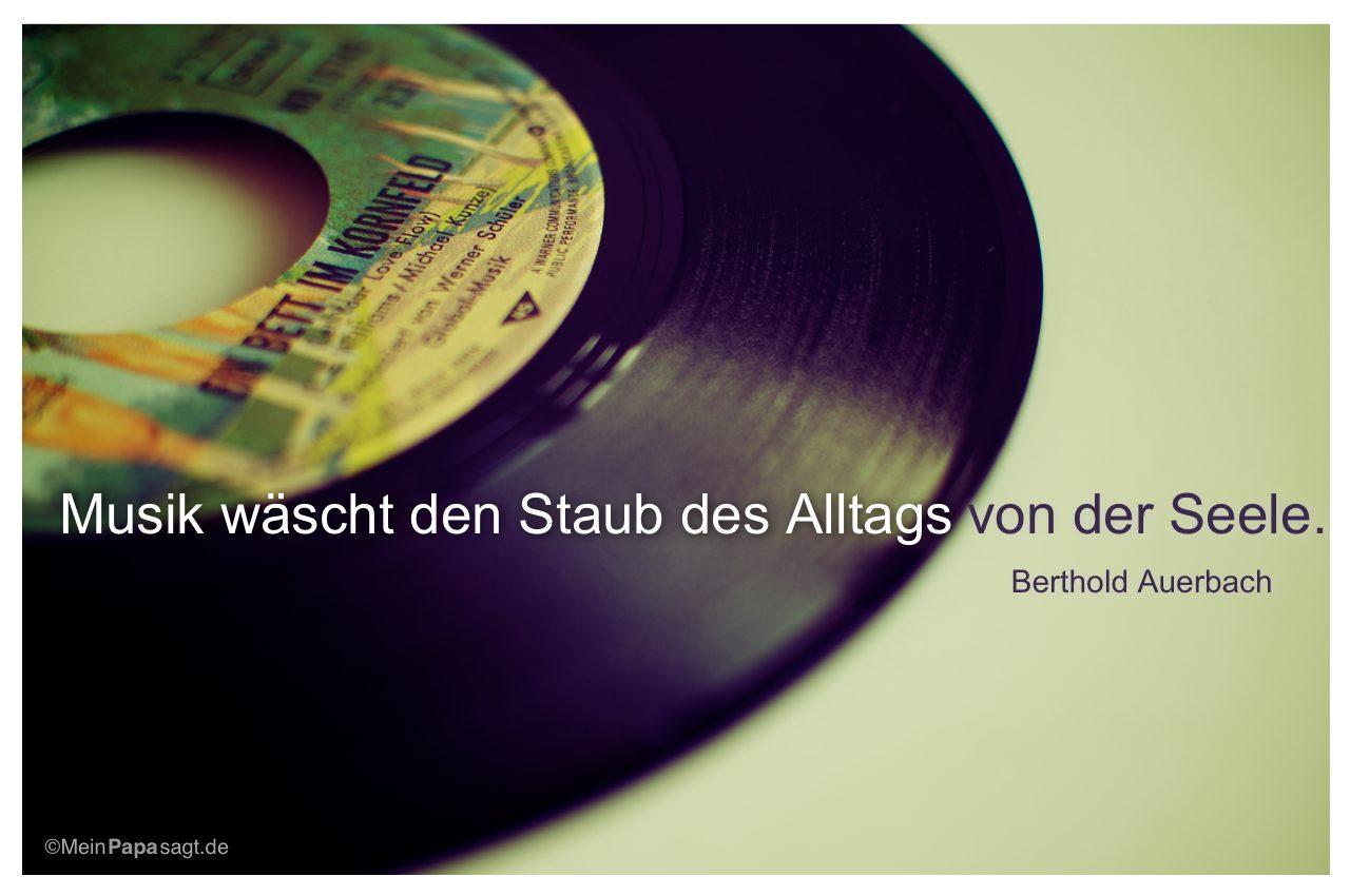 Alte Single Mit Dem Zitat Musik Wascht Den Staub Des Alltags Von Der Seele