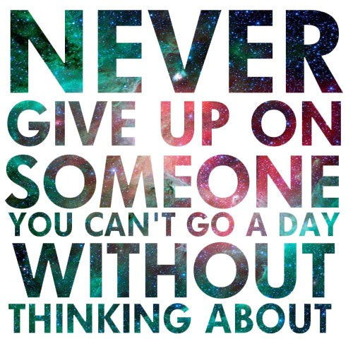 Never Give Up On Love Quote  Picture Quote