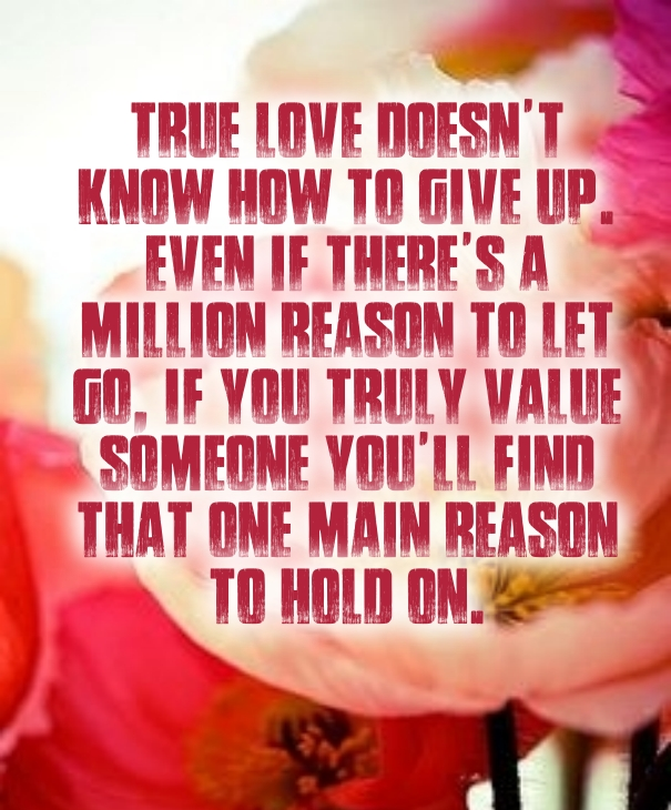 Never Give Up On Love Quotes Square