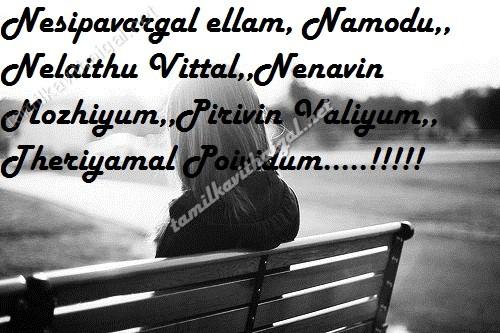 Pirivu Kavi Gal Quotes In Tamil Fonts