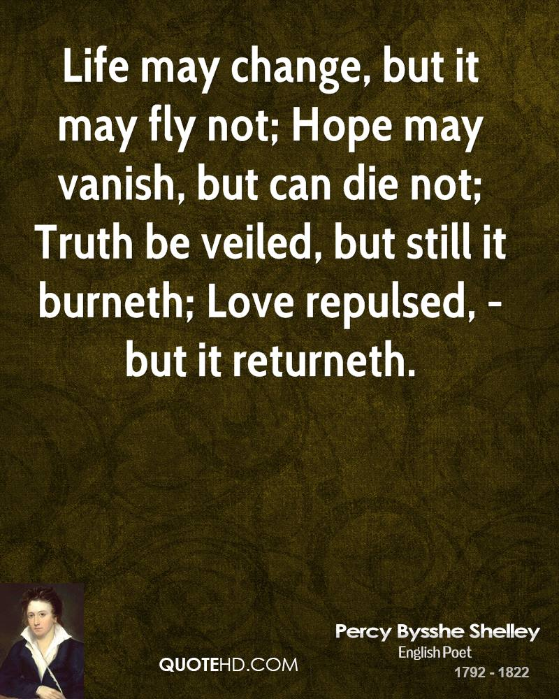 Life May Change But It May Fly Not Hope May Vanish But Can
