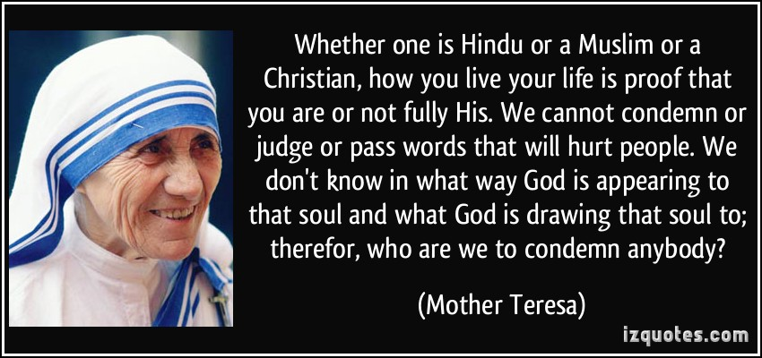 Whether One Is Hindu Or A Muslim Or A Christian How You Live Your Life
