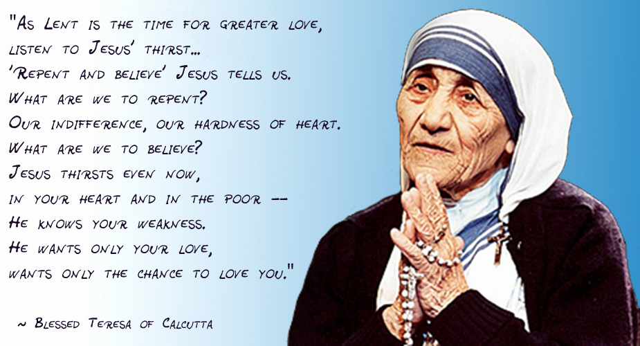 Saint Mother Teresa Quotes Magnificent Blessed Mother Teresa Of Calcutta