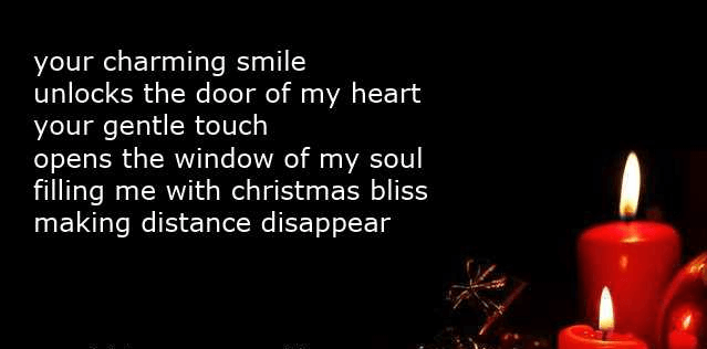 Short Christmas Love Poems With Candle