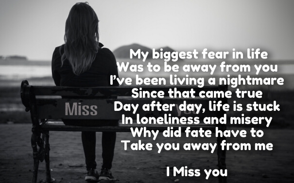 Short I Miss You Poems
