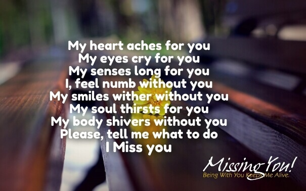 Also See I Miss You Love Quotes  C B Short Missing You Poems Him Her