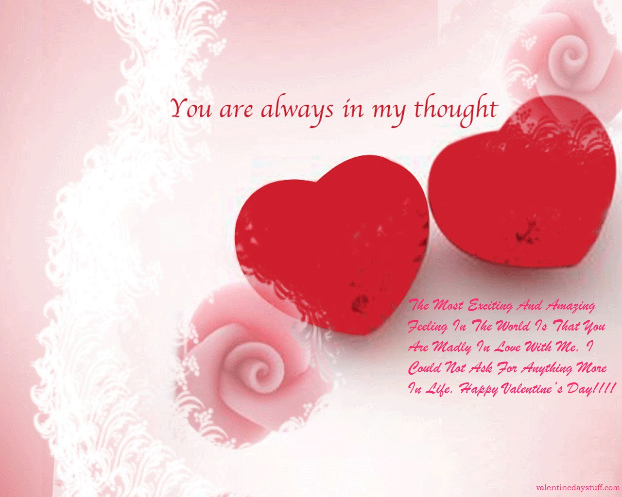 Simple Valentine Wishes Happy Valentines Day Card Examples