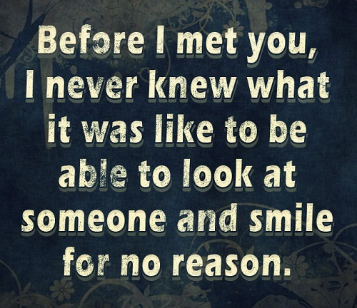 Smile For No Reason Love Quotes For Her