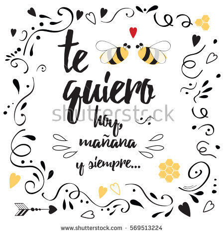 Vector Love Banner With Quote Love You Today Tomorrow And Always In Spanish
