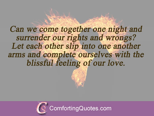 Sweet Love Quotes For Him Can We Come Together One Night And Surrender