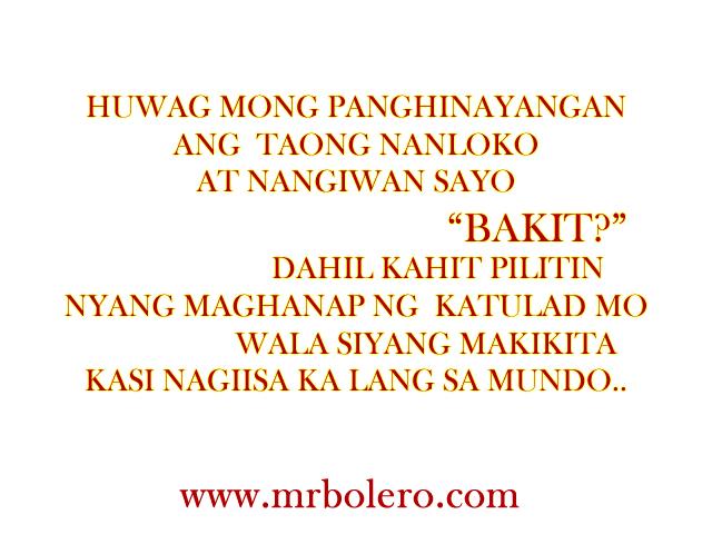 Tagalog Quotes Sad Paghihinayang