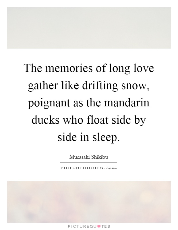 The Memories Of Long Love Gather Like Drifting Snow Poignant As The Mandarin Ducks Who Float Side By Side In Sleep