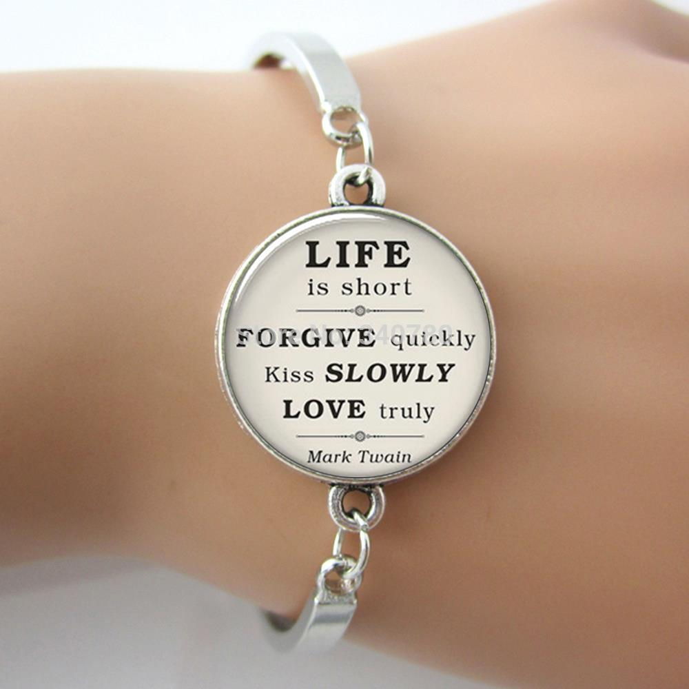Trendy Mark Twain Quote On Life Love Forgiveness Inspirational Quote Celetromance Kissglgemcelet For Lover G Beadcelets Silver