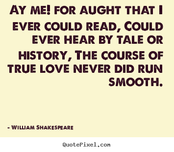 William Shakespeare Picture Quotes Ay Me For Aught That I Ever Could Read