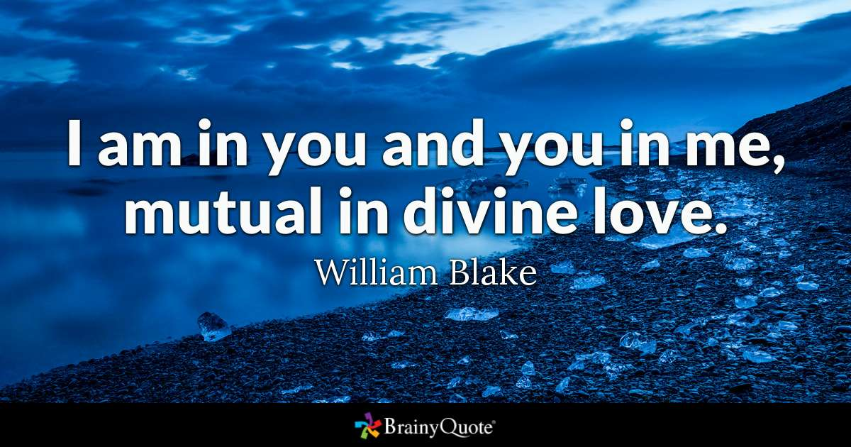 I Am In You And You In Me Mutual In Divine Love William