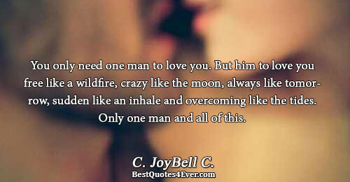 C Joybell C Best Love Quotes You Only Need One