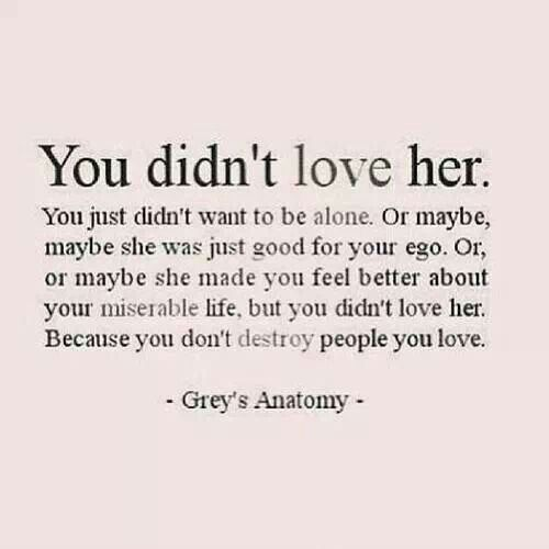 Hey Past You Didnt Love Her Let Her Go So She