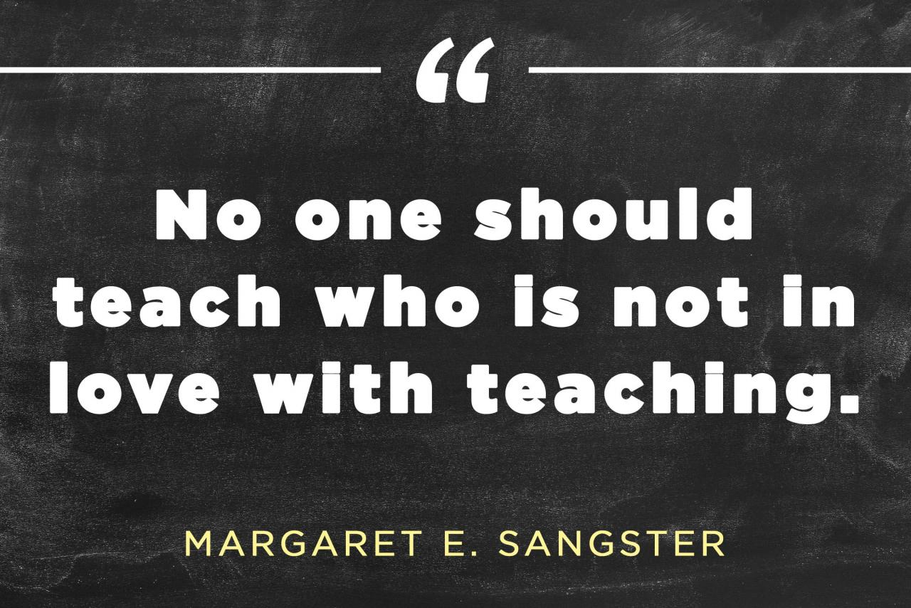 On The Love Of Teaching