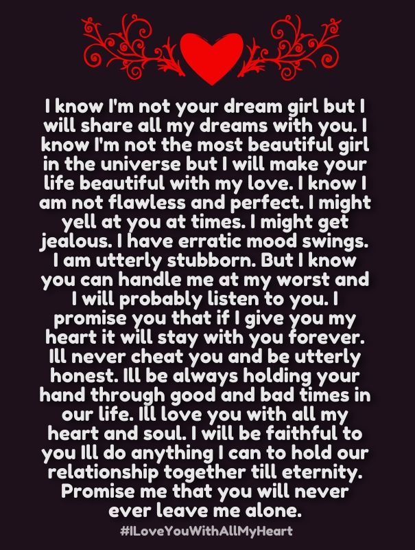 How Much I Love You Quotes With All My Heart For Him And Her