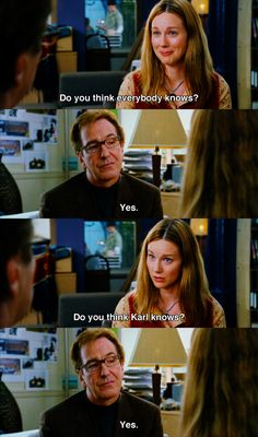 One Of My Favorite Sceneslinney And Alan Rickman Love Actually