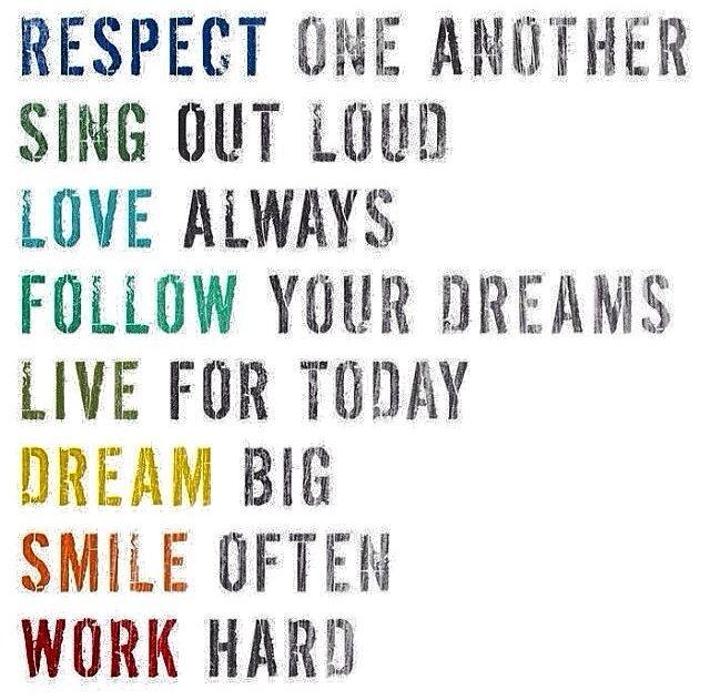 Respect Love Dream Work