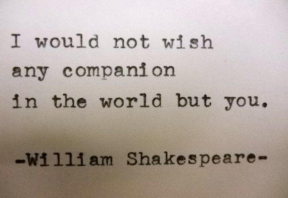 Items Similar To William Shakespeare Love Quote Typed On Typewriter Love Quote On Etsy