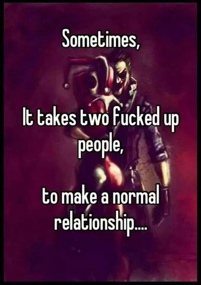 What Is Normal Tho Find This Pin And More On Crazy Love Harley Joker