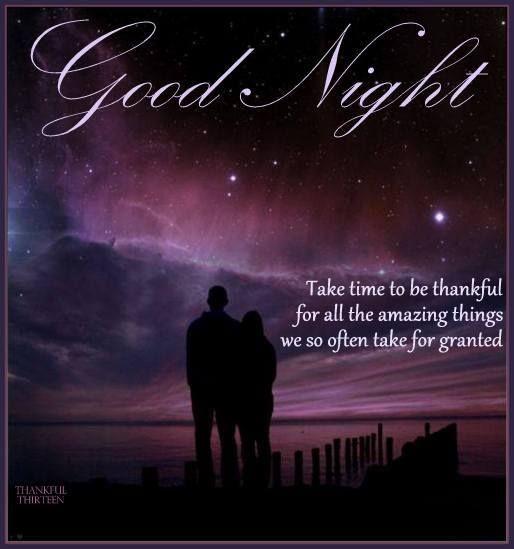 Good Night Take Time To Be Thankful