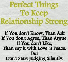 Perfect Things To Keep Relationship Strong