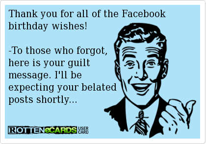 Thank You Images To Post On Face Book Thank You For All Of The Facebook Birthday Wishes To Those Who Forgot