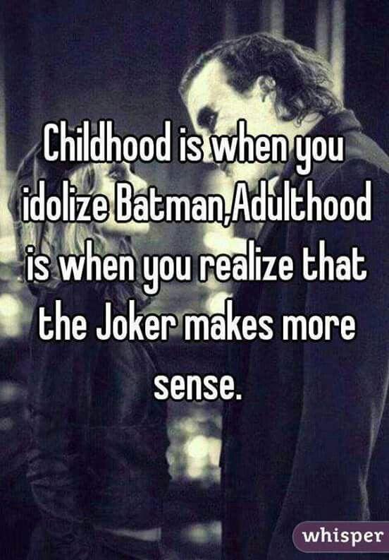 Although I Still Adore Batman But I Understand Joker