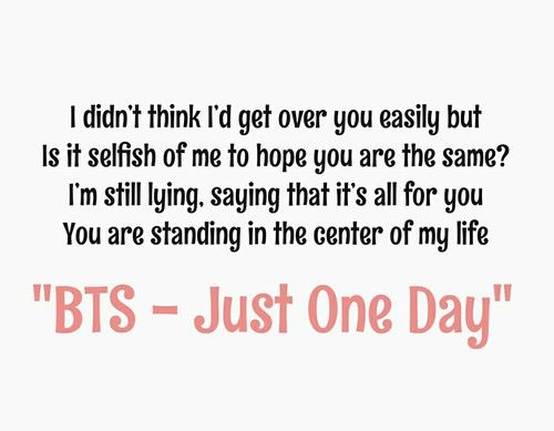 Bts Just One Day Bts Quoteslove