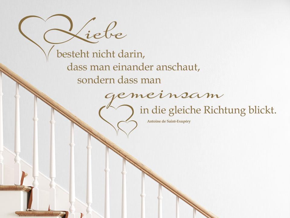 Wandzitat Liebe Besteht Nicht Im Treppenhaus