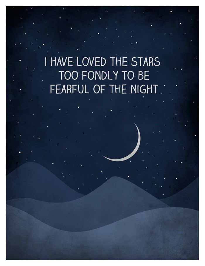 I Have Loved The Stars Too Fondly Quote Art Print Universe Print Astronomy Art