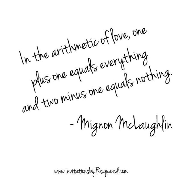 In The Arithmetic Of Love One Plus One Equal Everything